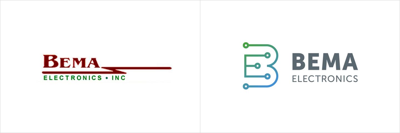 BEMA logo Before and After